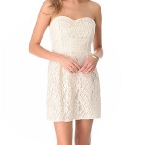 - FREE PEOPLE strapless lace dress